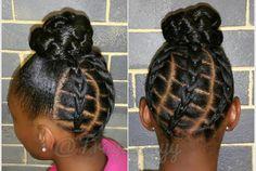 Black Kids Braids Hairstyles, Children Hairstyles, Girls Natural Hairstyles, Amazing Hairstyles, Back To School Hairstyles, Bun Hairstyles, Natural Hair Styles, Kid Braid Styles, Kid Styles