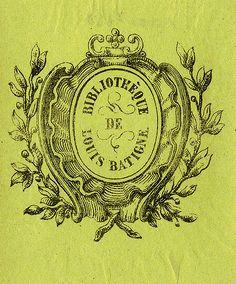 [Bookplate of Louis Batigne] by Pratt Libraries, via Flickr(: