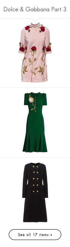 """Dolce & Gabbana Part 3"" by sparkles-and-salamanders ❤ liked on Polyvore featuring dresses, dolce gabbana dress, pink dress, dolce & gabbana, платья, green, tie neck dress, calf length dresses, wetlook dress and tie neck tie"