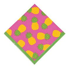 Pineapple Party napkins are perfect for a tropical birthday party. viablossom.com