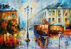 OLD STREET - PALETTE KNIFE Oil Painting On Canvas By Leonid Afremov http://afremov.com/OLD-STREET-PALETTE-KNIFE-Oil-Painting-On-Canvas-By-Leonid-Afremov-Size-28-x40.html?bid=1&partner=15955