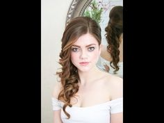Bridal hairstyling video - hair down to the side with curls