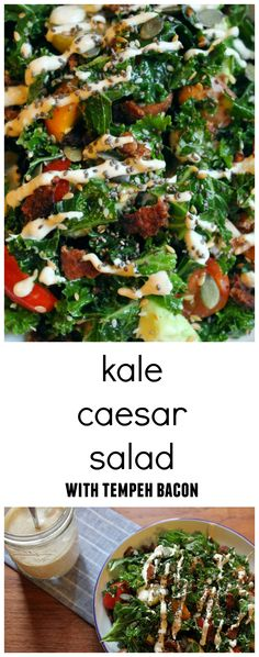 guest post kale caesar salad kale caesar salad with tempeh bacon vegan ...
