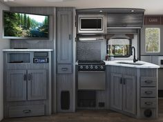 The Lance 2445 Travel Trailer comes with a large kitchen to help cook meals for the whole family! Storage Area, Garage Storage, Extra Storage, Lance Campers, Rv Show, Rv Accessories, Construction Design, Truck Camper, Travel Trailers