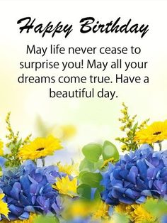 Send Free Happy Birthday Flower Cards to Loved Ones on Birthday & Greeting Cards by Davia. Birthday Greetings For Women, Happy Birthday Wishes Images, Happy Birthday Flower, Birthday Wishes Messages, Birthday Blessings, Best Birthday Wishes, Happy Birthday Fun, Card Birthday, Birthday Calendar