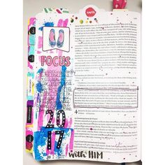 Catching up on the #if_goalswithgrace devotional, doing some journaling in my bible. I had a few pages I never shared. When we stop and focus at the task at hand and work at that task whole heartedly we have the opportunity to glorify God. How awesome is that friends?  #illustratedfaith #biblejournaling #journalingbible #bible #biblejournalingcommunity #bibletabs #dayspring #bellablvd #ipaintinmybible #faithjournaling #focus