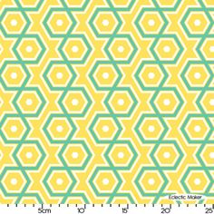 Joel Dewberry Notting Hill Hexagons in Canary Joel Dewberry Notting Hill Hexagons in Canary fabric for patchwork quilting and dressmaking from Eclectic Maker [PWJD062 Canary] : Eclectic Maker, patchwork, quilting and dressmaking fabric, patterns, habberdashery and notions.