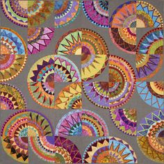 Windmills of my Mind by Julia Vazey.  Auckland Quilt Guild. 2014 Festival of Quilts.