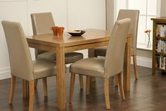 Kingston Small Dining Table With 4 Hanbury Dining Chairs Oak Dining Sets, Oak Dining Table, Small Dining, Dining Chairs, Chair Fabric, Kingston, Compact, Furniture, Home Decor