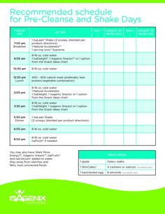 isagenix shake day schedule - Google Search
