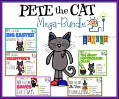 Pete the Cat INTERACTIVE & MOVEABLE task cards include every holiday can be easily assigned on Seesaw or Google Classroom - JUST choose and assign the slides you want!! Cover everything from phonics, spelling, synonyms, vocabulary, grammar, reading comprehension and rhyme! Perfect for Reading Comprehension and Distance Learning.