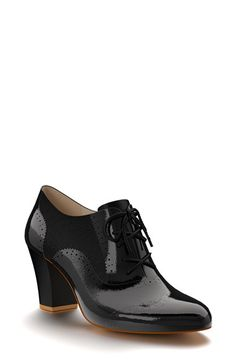 Shoes+of+Prey+Patent+Leather+Oxford+Bootie+(Women)+available+at+#Nordstrom