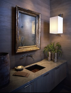 powder room by mcalpine tankersley love the mirror Bad Inspiration, Bathroom Inspiration, Interior Inspiration, Masculine Interior, Beautiful Bathrooms, White Bathrooms, Luxury Bathrooms, Master Bathrooms, Dream Bathrooms