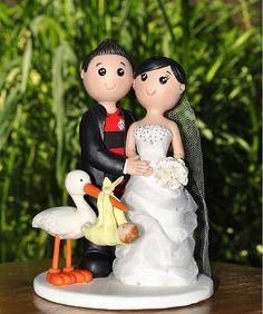 Bonequinhos de noivos customizados
