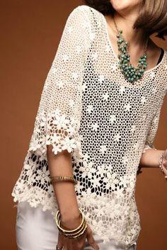 Image result for blusas de gancho