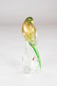 VENETIAN MURANO GLASS BIRD SCULPTURE Birds For Sale, Birth And Death, Bird Sculpture, Glass Birds, Glass House, Murano Glass, Venetian, Glass Art, Objects