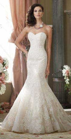 David Tutera for Mon Cheri Fall 2014 Bridal Collection | bellethemagazine.com