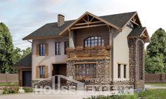 200-005-L Projekt domu dwukondygnacyjnego i garażem, średni dom z gazobetonu, Chorzów