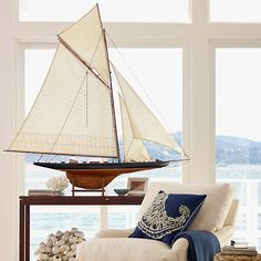 Boat for silent auction tables? Also White Coral On Glass Stand | Williams-Sonoma