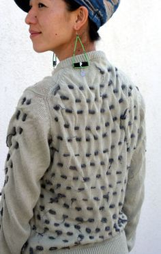Shibori/Sashiko upcycling of old clothes.