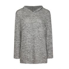 Ally Fashion C-s oversize hoodie top ($13) ❤ liked on Polyvore featuring tops, hoodies, l grey m, grey top, oversized tops, oversized hoodies, hoodie top and oversized hoodie