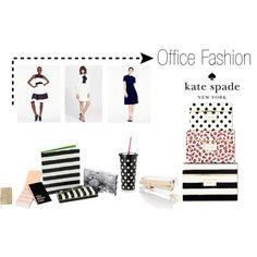 """Kate Spade New York Office Fashion"" by urbangirlofficesupply on Polyvore"
