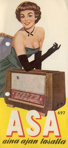 ASA 697 advert circa 1957 Vintage Advertisements, Vintage Ads, Vintage Posters, Old Commercials, Retro Radios, Old Computers, Vintage Records, Old Ads, Female Images