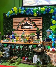 15 ideas para una fiesta Fortnite - Pubg, Fortnite and Hearthstone 7th Birthday Party For Boys, Cake Table Birthday, 10th Birthday, Birthday Party Decorations, Party Time, Ideas Para, Fort Night, Party Ideas, Toy Story