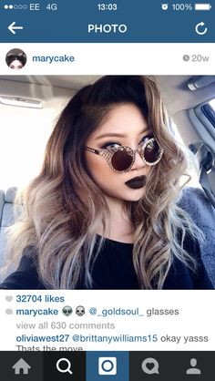 Want this hair!! Dark roots- ash blonde ends