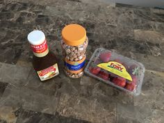 Alidi: Strawberries 0.99, Dry Roast Honey Nuts 1.89, steak and chop marinade 0.99