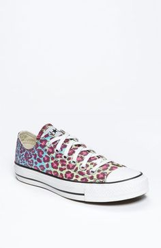 Fun AND practical!  Converse Chuck Taylor® All Star® Animal Print Sneaker (Women) available at #Nordstrom