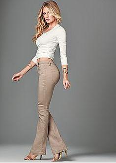 Women's Jeans - Skinny Jeans, Color Denim, Embellished Jeans