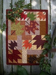 Country Threads :: Fall Quilt Patterns :: Sugar Maple Quilt Pattern