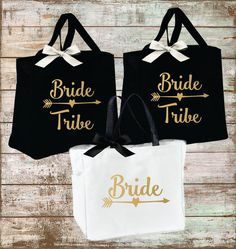 Bride Tribe Bridesmaid Personalized Bridal Tote by EverlyGrayce