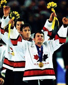 Mario Lemieux, Joe Sakic & Theo Fleury - 2002