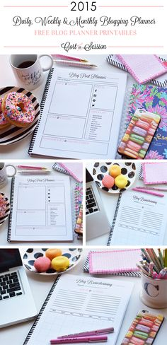 The Ultimate Free Blog Planner featuring a daily, weekly, and monthly blog…