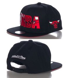 ba1368a96a0 MITCHELL AND NESS CHICAGO BULLS NBA snapback cap Basketball NBA logo  lettering on front MITCHELL AND NESS stitching on back Team logo patch on  side