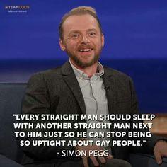 Simon Pegg gets it.