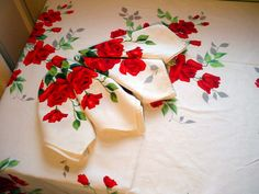 Wilendur Royal Rose tablecloth and napkins from the 40's and 50's have the sweetest hand-printed designs and fabulously weighty cotton.  They make me think of Jello-Salad, Olive Loaf and High Balls.  They are perfect gifts for the hostess-with-the-mostest in your life.   Plus, they last forever!