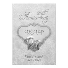 Silver Calla RSVP 25th Wedding Anniversary Personalized Announcement so please read the important details before your purchasing anyway here is the best buyShopping          	Silver Calla RSVP 25th Wedding Anniversary Personalized Announcement Online Secure Check out Quick and Easy...