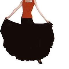 Rehearsal skirt for flamenco dance beginners - Girls and women