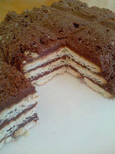 Gâteau mousseux chocolat au petit beurre