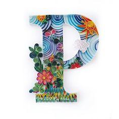 ❀ Crea Quilling by Pily Núñez ❀: Letras en Filigrana de Papel - Quilling / Quilling Typography (By Pily Núñez) Neli Quilling, Quilling Work, Quilling Letters, Paper Quilling Patterns, Quilled Paper Art, Quilling Paper Craft, Diy Crafts Paper Flowers, Paper Crafts, Typography Drawing