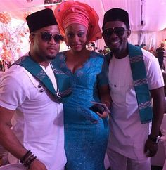 Mike Ezuruonye and AY at Paul Okoye's #wedding #aso-ebi