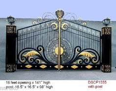 ALL WROUGHT IRON BEST DRIVEWAY GATES 30k IF MADE IN US NOTHING IS AS NICE