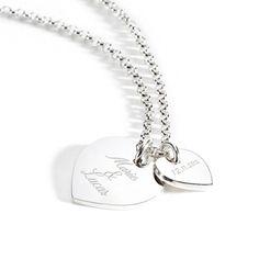 Halskette mit zwei Herzanhängern