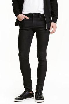 Super Skinny Jeans - Czarny denim - ON   H&M PL