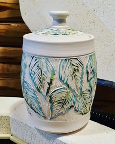 """309 Likes, 12 Comments - Pamela Johnson-Howe (@northwindpottery) on Instagram: """"Another color combo for my 4 seasons sgraffito leaves series. Cool colors this time. Looking…"""""""