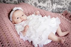 Rosy Red Buttons: baby blessing {dress}