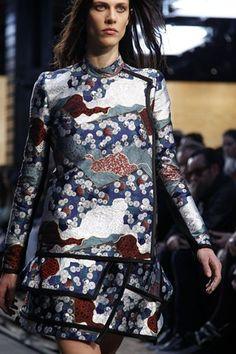 Oriental Pattern, Dress, Blue, Red